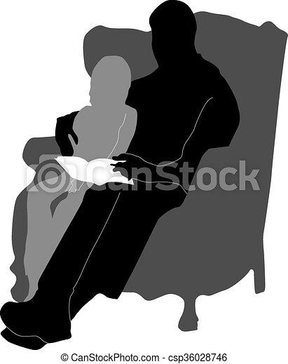 Lecture Petite Fille Livre Grand Père