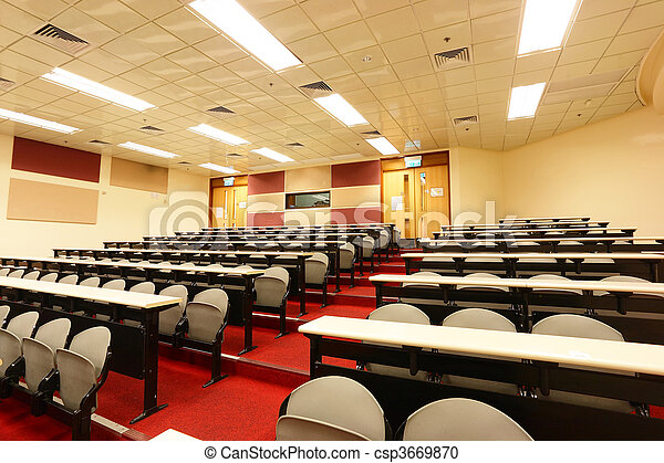 lecture room of university - csp3669870