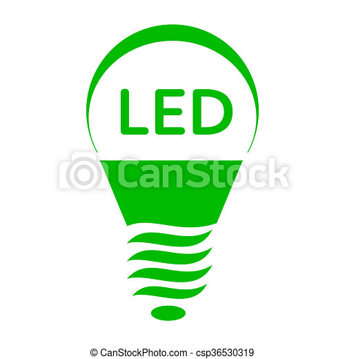Led bulb light icon, simple style. Led bulb light icon in... clipart ...