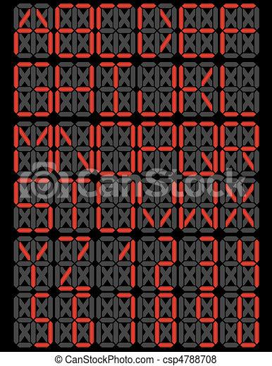 LED Digital Display Font Set - csp4788708