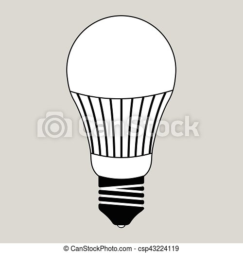 Led Light Bulb Energy Saving Glass Vector