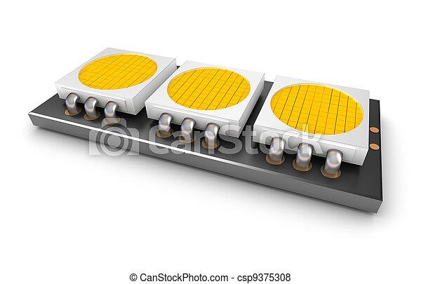 Led light lamp chips over white - csp9375308