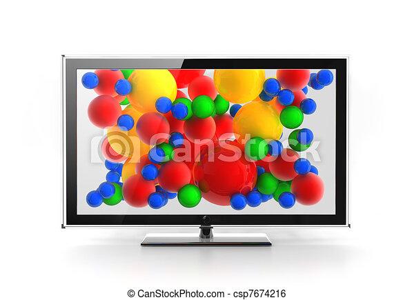 Led / Plasma / LCD vivid screen concept - csp7674216
