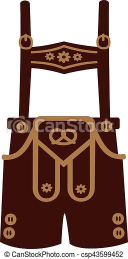 lederhosen, pantalon cuir - csp43599452