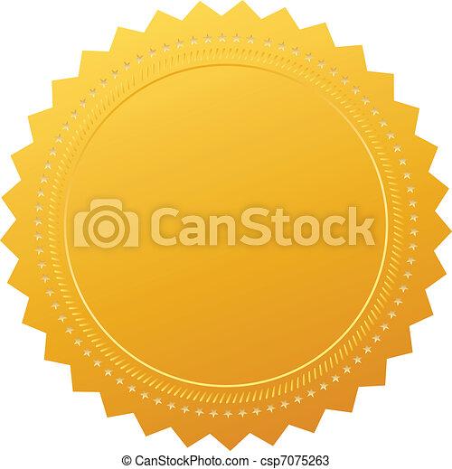 leeg, certificaat, borg staan voor - csp7075263