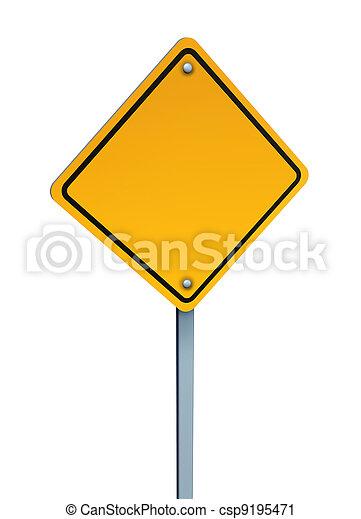 leeg, waarschuwend, geel teken - csp9195471