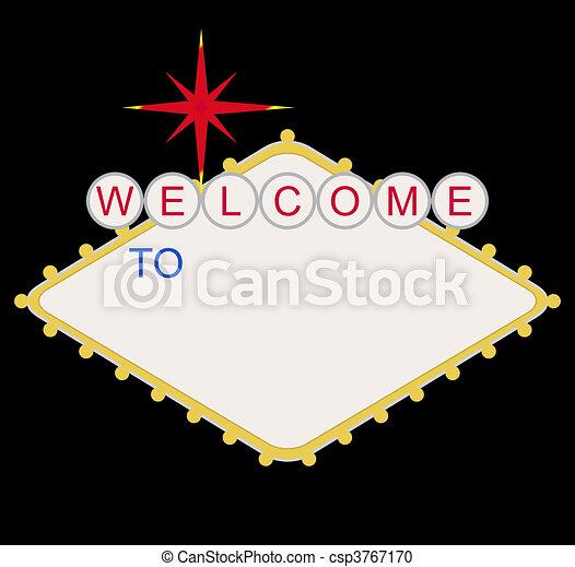 leer, las vegas, herzlich willkommen, las, zeichen - csp3767170