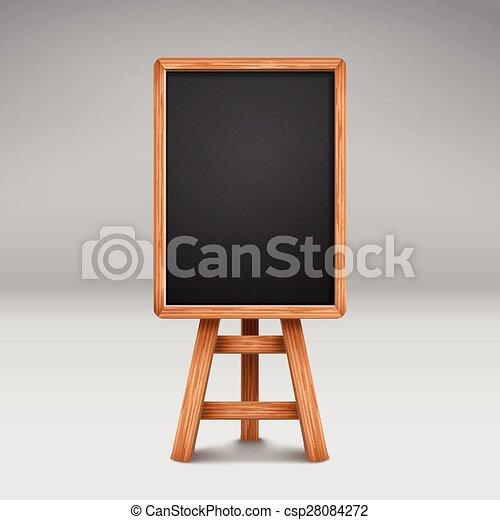 Schultafel clipart leer  Vektoren Illustration von leer, tafel, reklametafel, oder ...
