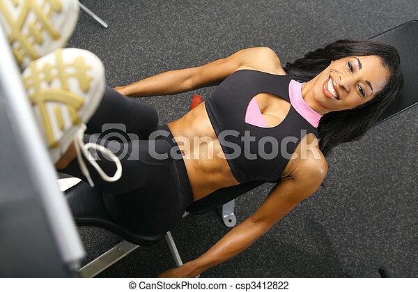 Leg Press Fitness - csp3412822