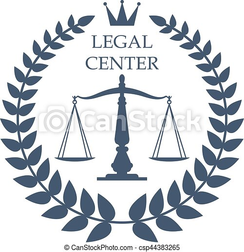 legal center vector justice scales laurel icon juridical or legal rh canstockphoto com advocate logistics advocate login page