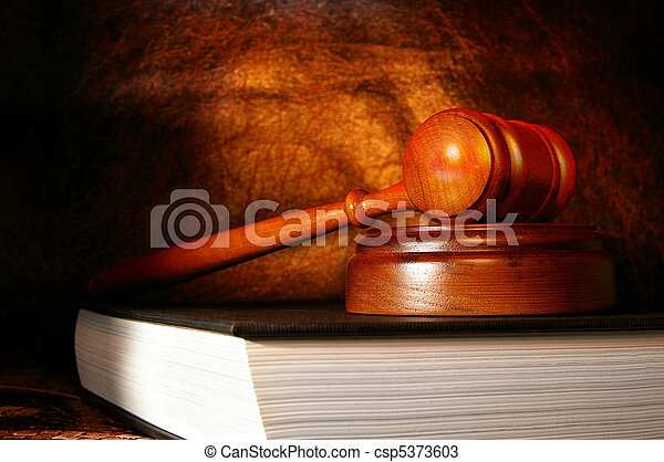 legal gavel on a law book - csp5373603