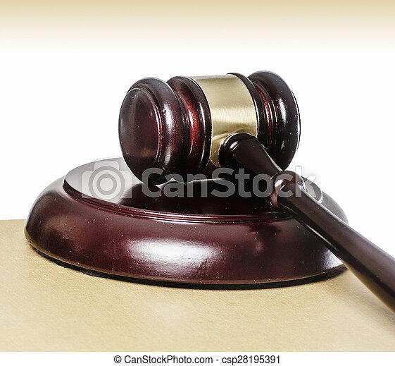 Legal law concept image - csp28195391