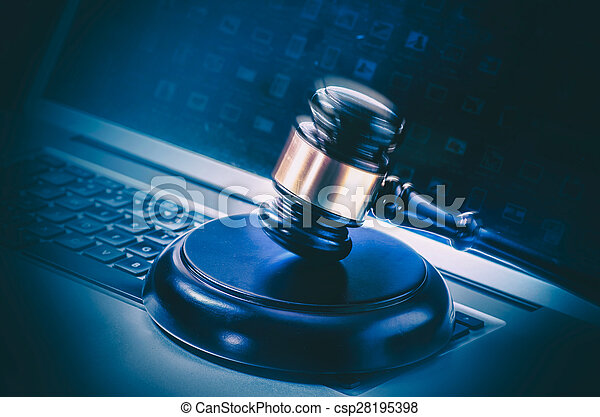 Legal law concept image - csp28195398