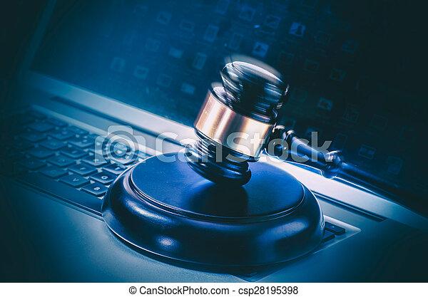 Legal law concept image - csp28195398