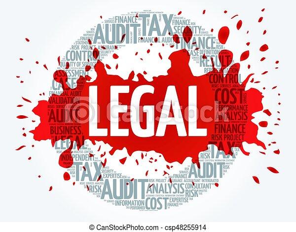legal word cloud business concept