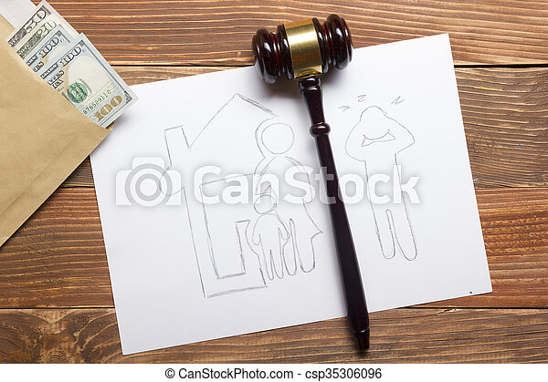 legale, concept., mezzi, proprietà, famiglia, sezione, legge, divorzio - csp35306096