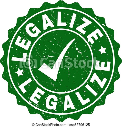Legalize Scratched Stamp with Tick - csp63796125