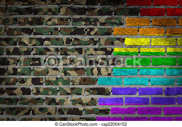leger, muur, rechten, -, camouflage, donker, lgbt, baksteen - csp22004152