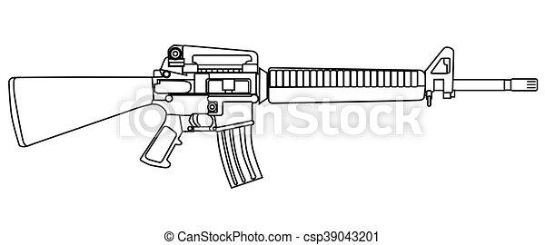 leger typisch geweer stijl leger wapen vrijstaand