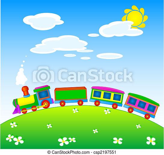 legetøj tog - csp2197551
