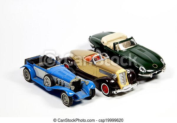 legetøj vogner, tre, samling, model, hvid - csp19999620