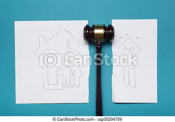 legge, famiglia, mezzi, divorzio, concept., legale, proprietà, sezione - csp35204709