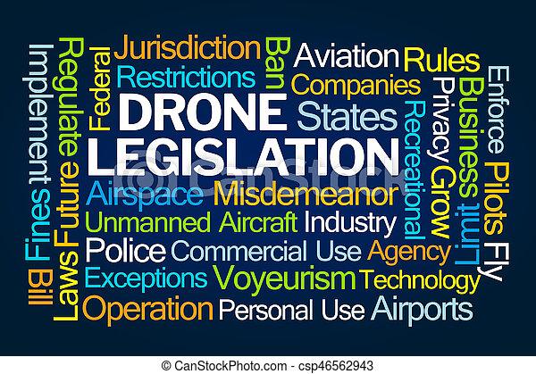 Nube legislativa de drones - csp46562943