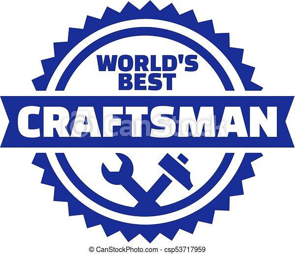 legjobb, embléma, világ, kézműves - csp53717959