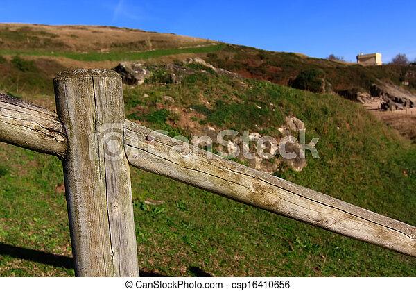 legno, campagna, recinto - csp16410656