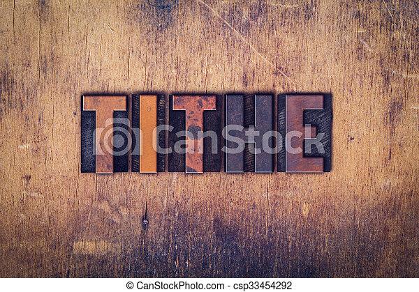 legno, decima, concetto, tipo, letterpress - csp33454292