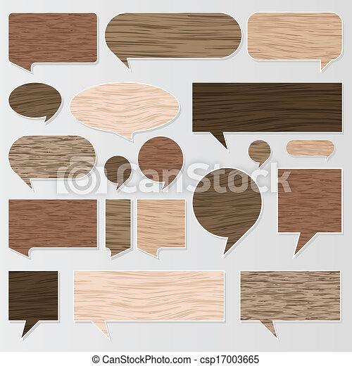 legno, naturale, struttura, vettore, discorso, bolle - csp17003665