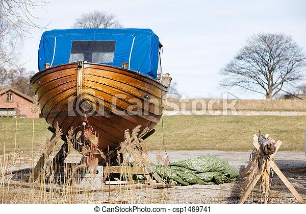 legno, riparazione, barca - csp1469741