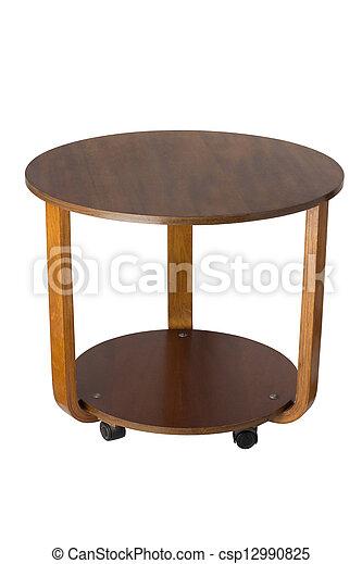 legno, sopra, fondo, tavola, bianco, rotondo - csp12990825