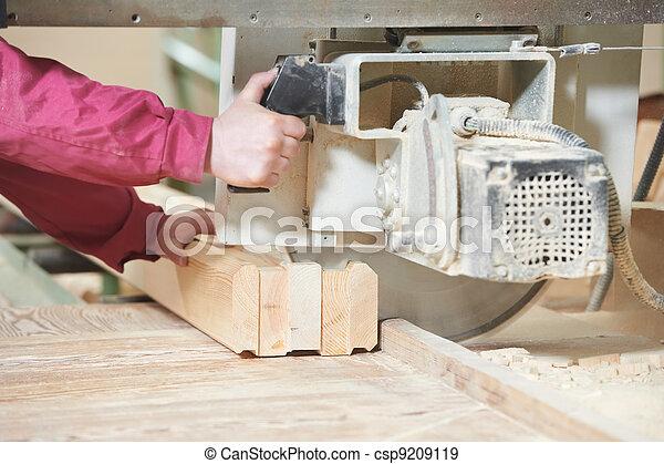 legno, taglio, closeup, croce, carpenteria - csp9209119