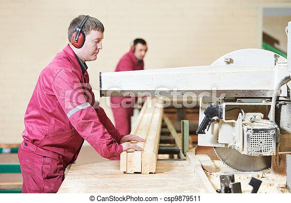 legno, taglio, closeup, croce, carpenteria - csp9879511