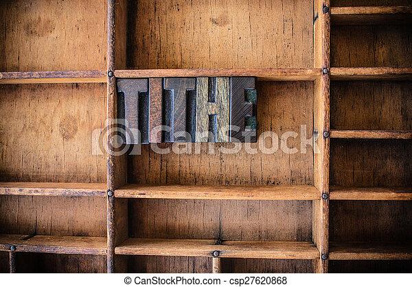 legno, tema, concetto, decima, letterpress - csp27620868