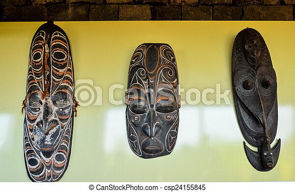 legno, tipico, maschera, faccia - csp24155845