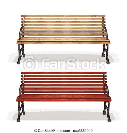 legno, (vector), panca - csp3861949