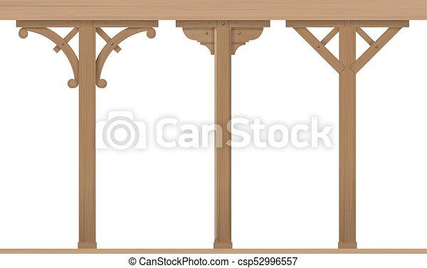 Legno, vendemmia, set, colonne. Mascherine, set, carpentry., legno ...