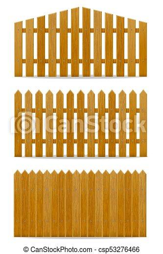 legno, vettore, recinto, illustrazione - csp53276466