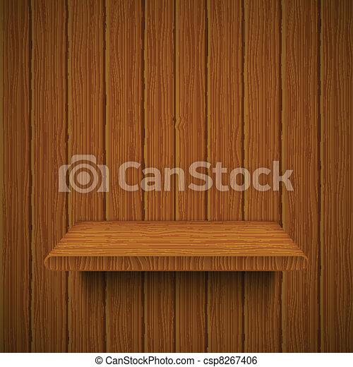 legno, vettore, shelf., struttura, illustrazione - csp8267406