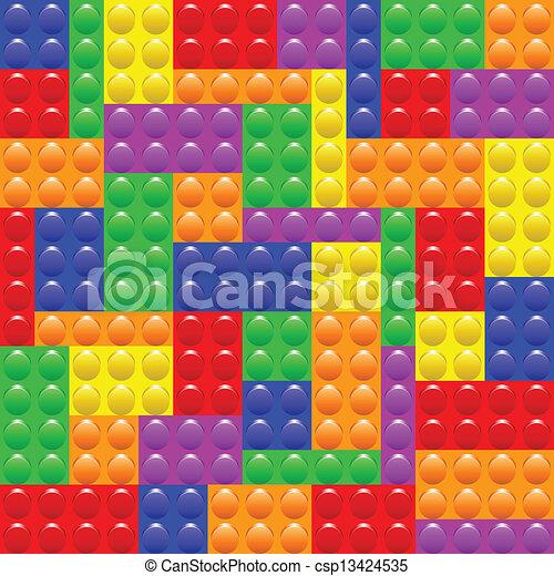 El lego bloquea la construcción - csp13424535
