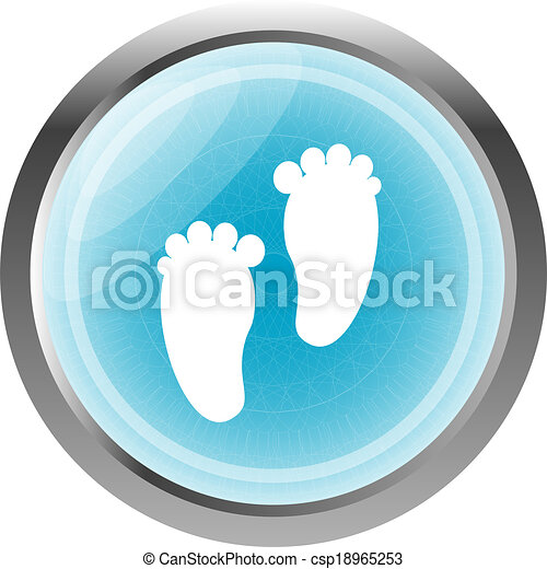 Legs realistic blue web button (icon) isolated on white - csp18965253