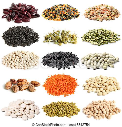 legumbres, selección, vario - csp18842754