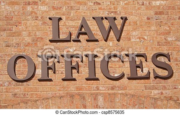 lei, escritórios, sinal - csp8575635