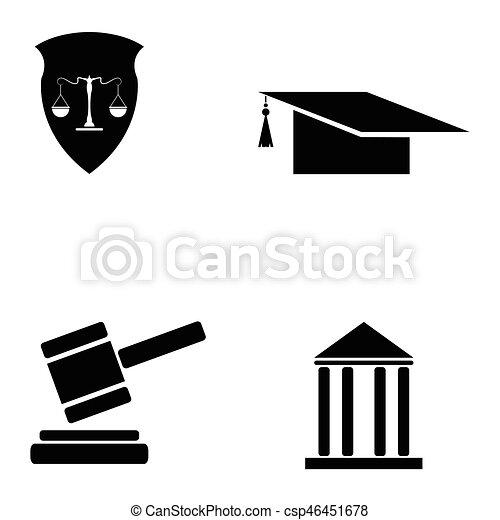 lei, jogo, ícone - csp46451678