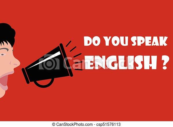 lei, parlare, inglese - csp51576113
