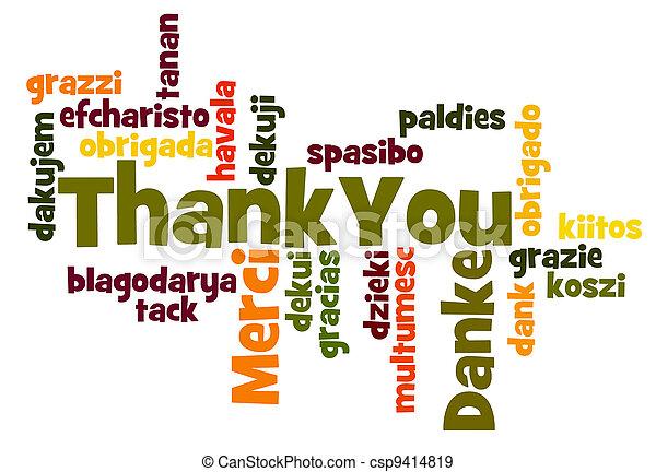 lei, ringraziare - csp9414819