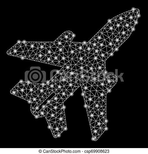 leiche, licht, flecke, hell, masche, motorflugzeug - csp69908623