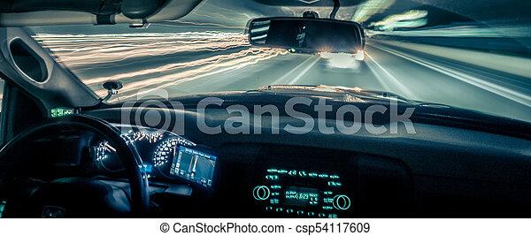 leichte geschwindigkeit, schnell, fahren, reisen - csp54117609
